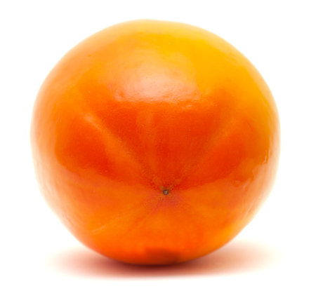 carotenoid: Caqui japon�s aislado en blanco