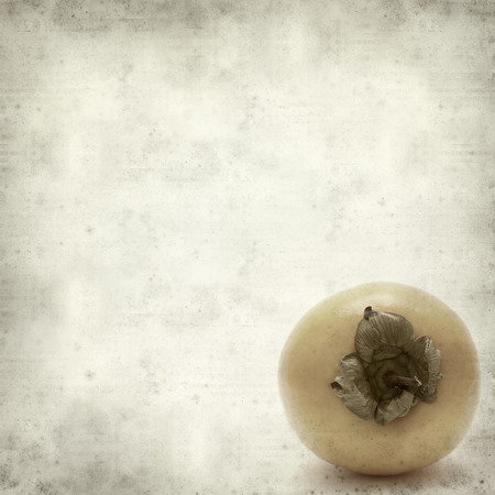 textured old paper background with apanese persimmon photo