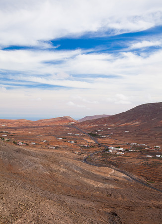 eroded: Inland Northern Fuerteventura, Canary Islands, view from the slopes of La Muda Mountain