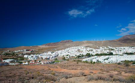 Gran Canaria, North-west, Agaete village, view from the walking path Agaete - La Aldea photo