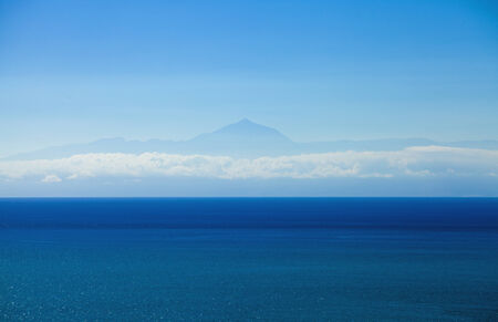 seen: Teide on Tenerife, as seen from the north west of Gran Canaria