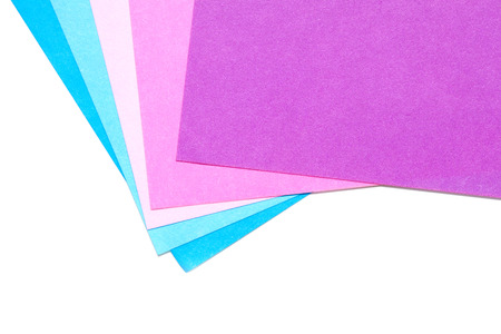 pliable: color paper for origami isolated on white background