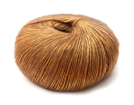 lustre: knitting yarn ball isolated on white background