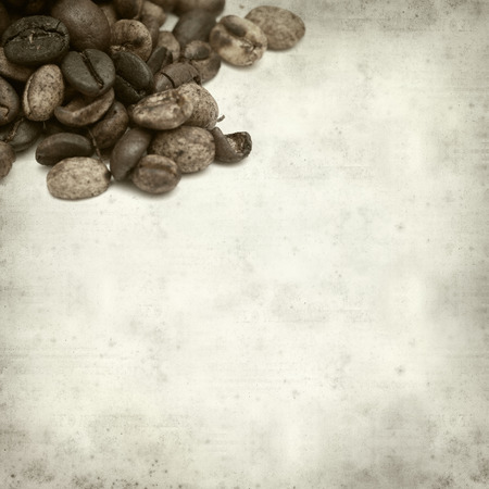 speciality: textured old paper background with speciality coffee grain