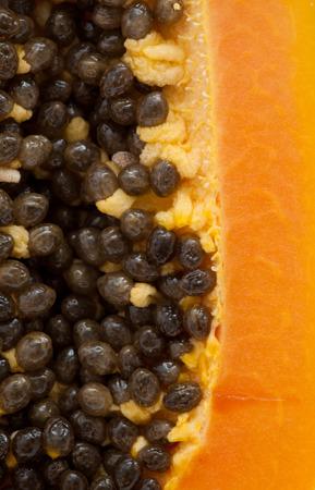 papaw: papaya fuit cut in half  background