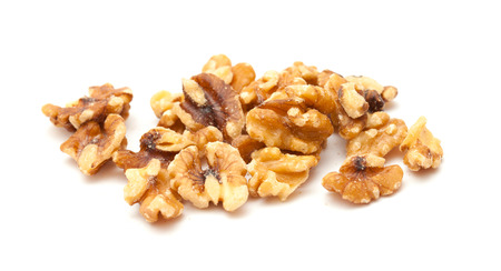 shelled: shelled walnuts isolated on white background