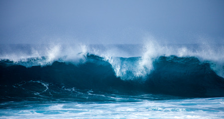 ocean waves breaking by the shores of Gran Canaria