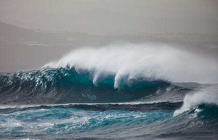 shores: ocean waves breaking by the shores of Gran Canaria