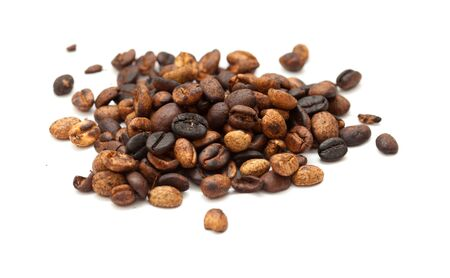 speciality: speciality coffee - coffee from Gran Canaria, Agaete valley, isolated on white