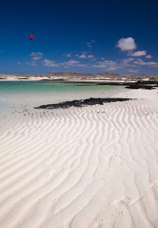 Fuerteventura, rippled sand around Faro de Toston photo
