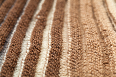 purl: macro hand made knitting background of variegated wool Stock Photo