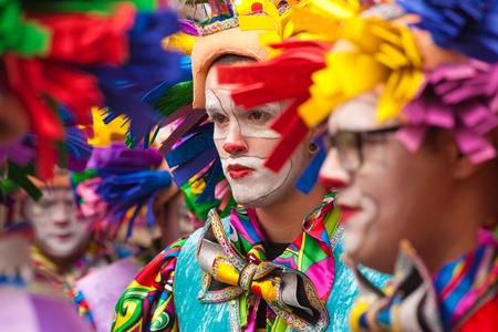Gran Canari Carnival 2015, people in colorful costumes