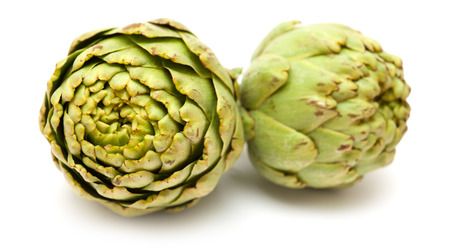 bracts: globe artichoke isolated on white background