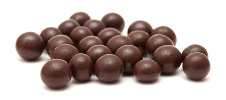 dragees: chocolate dragees isolated Stock Photo