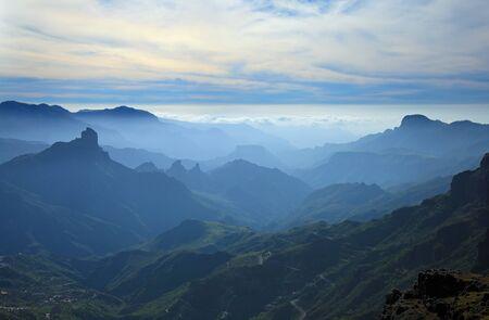 settling: Gran Canaria, Caldera de Tejeda, mist is settling over Caldera