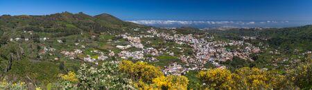 Gran Canaria, historic town Teror, aerial view panorama photo