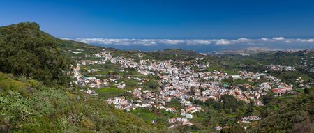 Gran Canaria, historic town Teror, aerial view panorama Reklamní fotografie