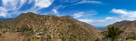 vallehermoso: La Gomera, Vallehermoso, northern branch of the valley, panorama