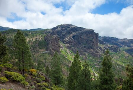 approaches: Gran Canaria, Las Cumbres - the highest areas of the island, approaches to Roque Nublo, view south