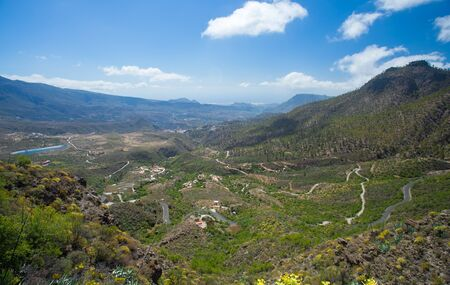 canary isalnds: Gran Canaria View from Cruz Grande to valle Tirajana