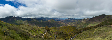 Gran Canaria, Caldera de Tejeda in spring, mountain roads photo