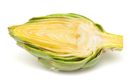 cardunculus scolymus: fresh globe artichoke isolated on white background