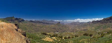 blanketed: Gran Canaria, Caldera de Tejeda in May, grasses are drying out under strong sun