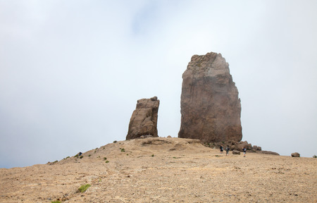 rana: Gran Canaria,Roque Nublo and The Frog, La Rana, cloudy day, clouds drifting across