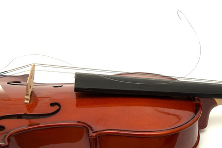happens: a violin with one broken string Stock Photo