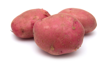 red potatoes isolated on white background Stok Fotoğraf