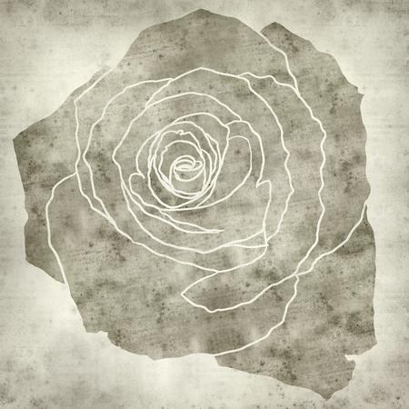 dessin fleur: textur� vieux fond de papier avec le dessin de fleurs rose Banque d'images