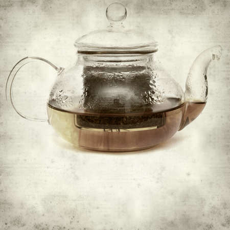 rooibos: textured old paper background with Rooibos tea