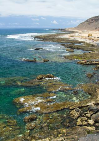 naturist: Gran Canaria, El Confital beach on the edge of Las Palmas, La Isleta peninsula