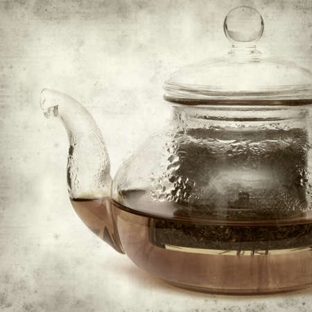red bush tea: textured old paper background with Rooibos tea