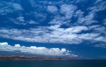 visible: Gran Canaria, North Coast of the island visible from La Isleta peninsula