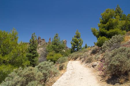 chilometro: Gran Canaria, sentiero per Roque Nublo, ultimo chilometro Archivio Fotografico
