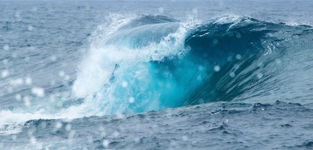 braking: powerful ocean waves braking natural background Stock Photo
