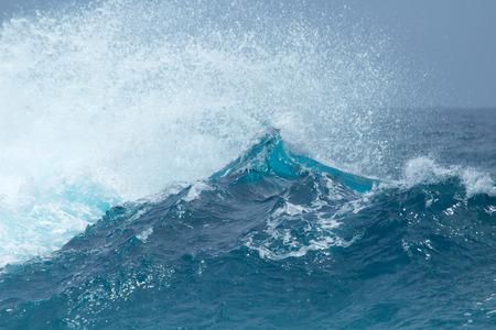 powerful: powerful ocean waves breaking natural background