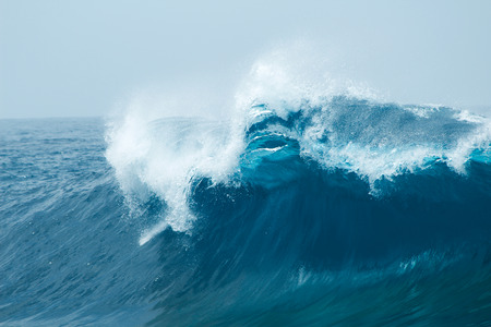 強力な海洋波が自然な背景 写真素材