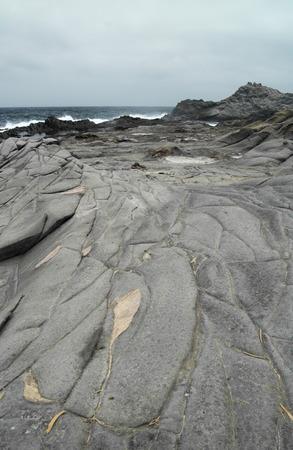 lava field: Gran Canaria, north west coast at Banaderos area, old lava field