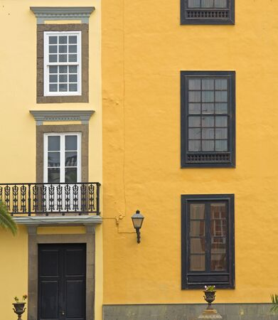 las palmas: Gran Canaria, Las Palmas old town architectural detail Stock Photo