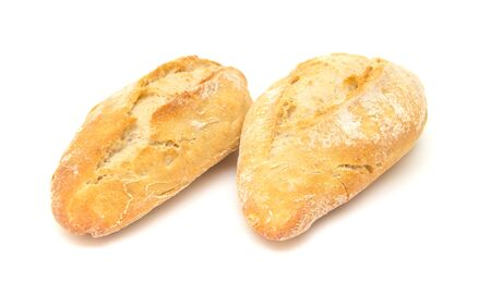 galician: small galician bread roll isolated on white background