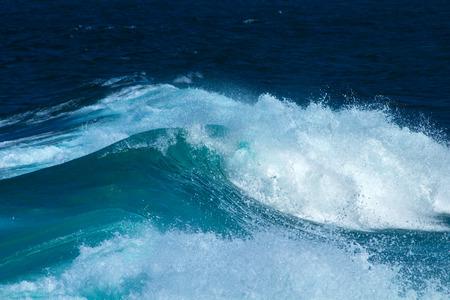 foamy ocean wave breaking natural water background