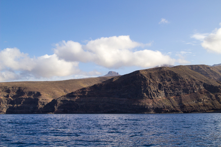steep cliffs: La Gomera, Canary islands, steep cliffs along west coast