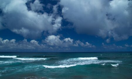 ocean waves: empty ocean with foamy waves natural background