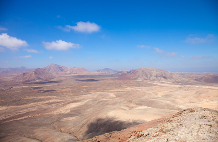 nombre: Fuerteventura, view west from Montana Roja at the North of the island Stock Photo