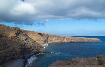 neighbour: La Gomera, Canary islands, beaches Playa Del Medio and  Playa Chinguarime at the south of the island