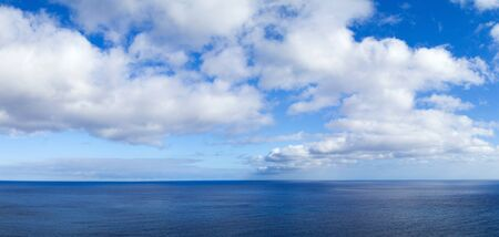 extra large: clouds over ocean extra large panorama, shot from some height Stock Photo