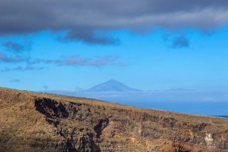 neighbour: peak of Teide on Tenerife, seen from neighbour island La Gomera