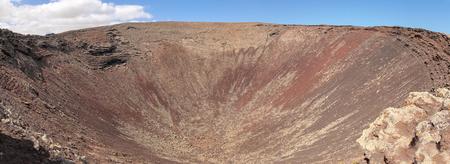 hondo: Nortern Fuerteventura, view over volcanic Crater Calderon Hondo Stock Photo